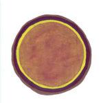 Core (iris violet 3), huile sur papier Arches, 22,9 x 30,9 cm, 2018.