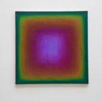 Halo n°2: cercle chromatique en 12 couleurs, sens A. H., du violet au bleu outremer, huile sur toile, 60 x 60 cm, 2015