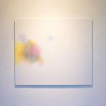 Modulation chromatique n°3, cercle chromatique en 24 couleurs, crayons de couleur sur papier marouflé sur dibond, 98 x 84 cm, 2015 exposition: De l'Académie à La châtaigneraie, février-mars 2016
