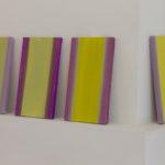 Petite étude « jaune », crocus, pensée, huile sur panneau, 12 x 20 cm, 2016.