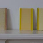 Petite étude « jaune », crocus, rose jaune, huile sur panneau, 12 x 20 cm, 2016