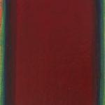 Monochrome n°15: sens A. H., du vermillon au rouge écarlate, huile sur intissé marouflé sur panneau, 16x 20 cm, 2015