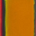 Monochrome n°3: sens H., du vermillon à l'orange, huile sur intissé marouflé sur panneau, 16x 20 cm, 2015