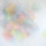 Modulation chromatique n°13, cercle chromatique en 24 couleurs, crayons de couleur sur papier, 98 x 118 cm, 2016