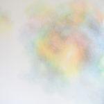 Modulation chromatique n°11, cercle chromatique en 24 couleurs, crayons de couleur sur papier, 98 x 118 cm, 2016